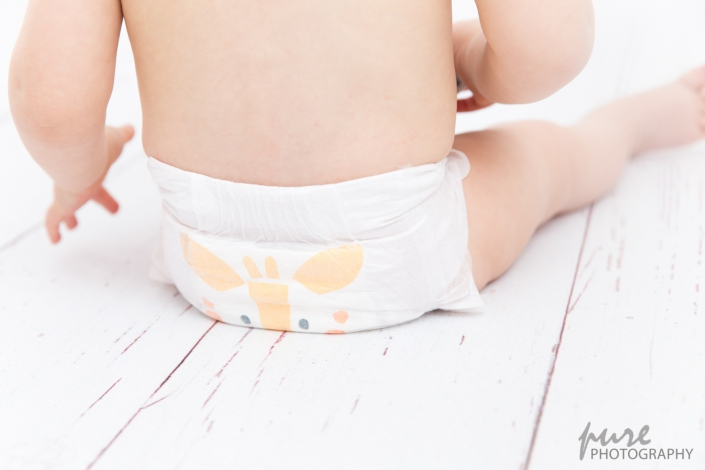 Babyshooting und Kindershooting, Kit & Kin Windel, Baby in Windel